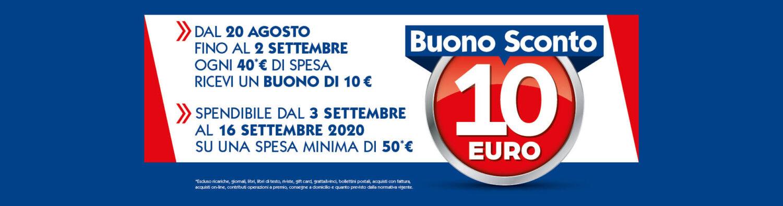 buono 10 euro sulla spesa